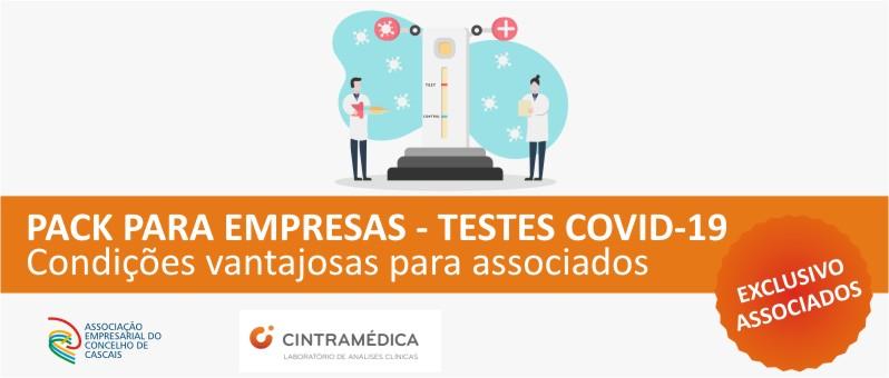 PACK PARA EMPRESAS – TESTES COVID-19: Condições vantajosas para associados