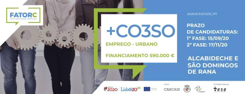 +CO3SO Emprego Urbano – Apoio direto à criação de Emprego