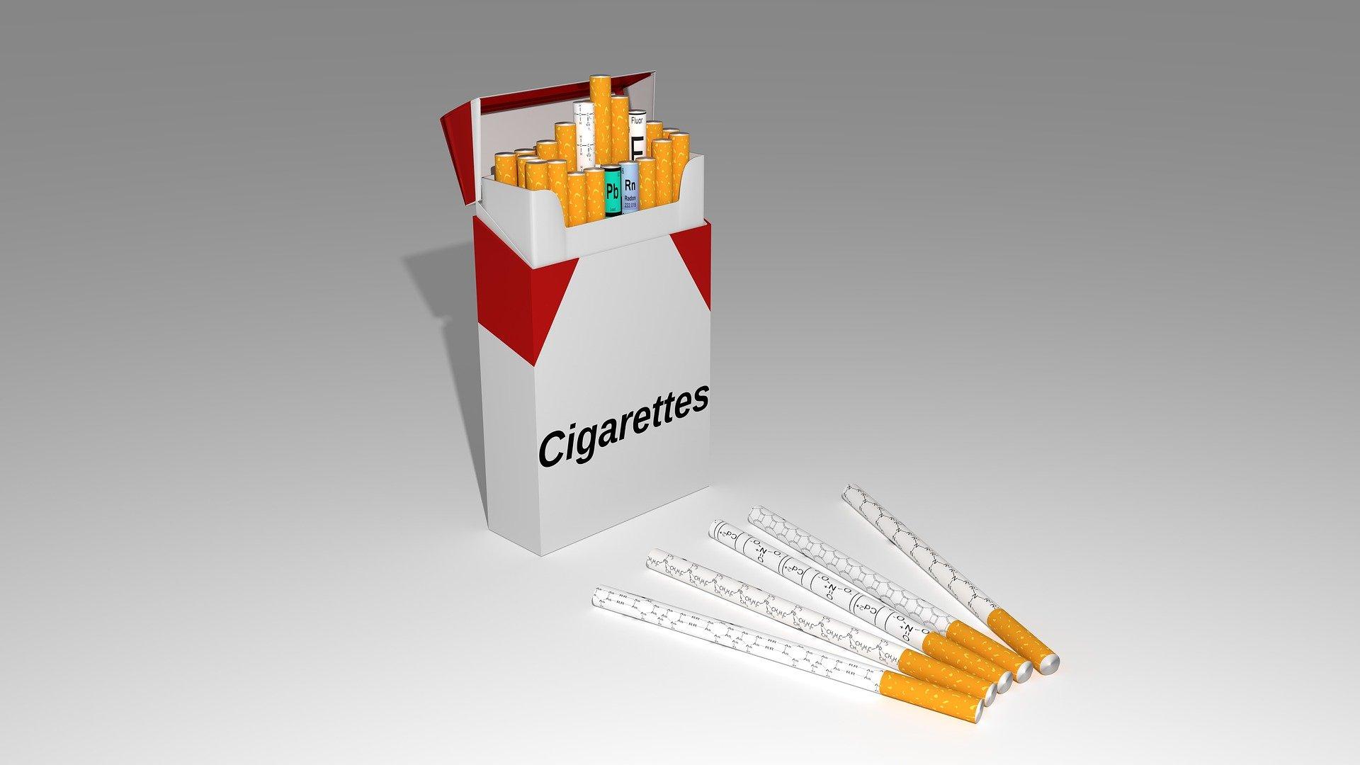Venda de maços de tabaco com selo de 2020
